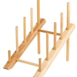 J.K. Adams 10-Inch-By-6-Inch Slanted Plate Drying Rack, 4-Plate Capacity