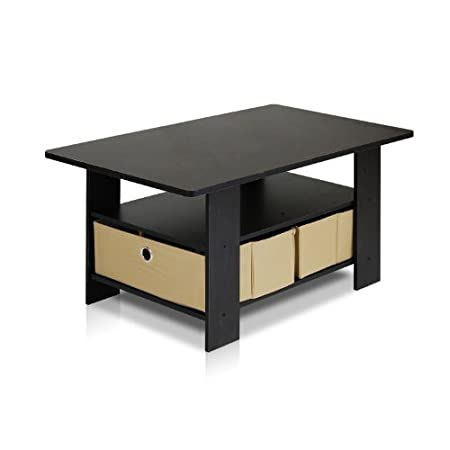 Furinno espresso living set coffee table is a basic furniture design that fit into a modern stylish lifestyle. . Easy assembly, light weight, yet looks refreshing and space saving, is suitable for any room. The materials comply with e1 grade particle...