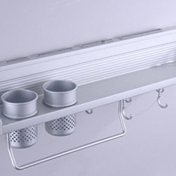 Global King Multifunctional 24Inch 2 Cup Kitchen Shelf Cooks Standard Wall Mount Spice Tools Knives Flavors Towal And So On , The Items Can Also In Bathroom