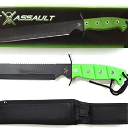 Tac Assault Bowie Hunting, Tactical, Survival 12 In. Fixed Blade Knife