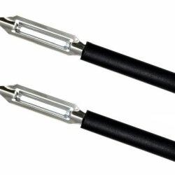 Rada Cutlery Deluxe Vegetable Peeler, Black Handle (Pack Of 2 - W241/2)