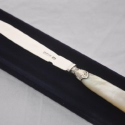 Perfect Mother Of Pearl & Sterling Silver Bladed Letter Opener Sheffield 1905