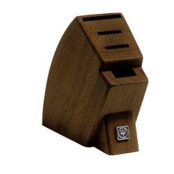 4-Slot Mobile Walnut Knife Block