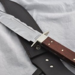 """New Hand Forged Genuine Rosewood Scale Tang Bowie Sheffield !! 14.5 """" L@@K"""