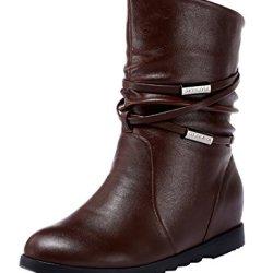 Guciheaven Winter Keep Warm Simple Graceful Short Boots(7 B(M)Us, Coffee)