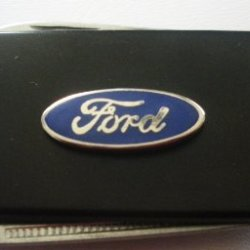Ford Black Stainless Steel Money Clip With Knife & Nailfile In Body Of Clip