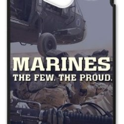 Lilichen Cool Design Forever Collectible Usmc Marine Corps Case Cover For Htc One M7 (Laser Technology) -- Desgin By Lilichen