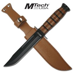 Mtech Leather Handle Ka-Bar Style Combat Knife