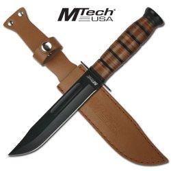 Mtech Leather Handle Ka-Bar Style Combat Knife