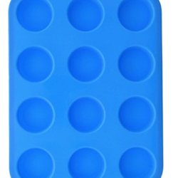 Muffin Mold - Le Juvo 12 Round Mini Muffin/Cupcakes Baking Pan - Blue
