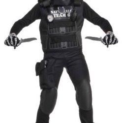 Deluxe Child Black Team 6 Costume, Medium