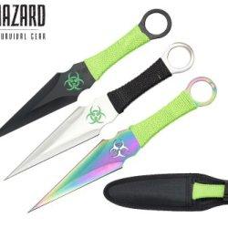 9 Inch 3Pcs Set Zombie Throwing Knife Biohazard A8022-3-Astd