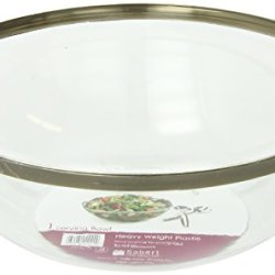Mozaik Round Bowl, Silver Rimmed (128-Ounce), 1-Count Bowl (Pack Of 6)