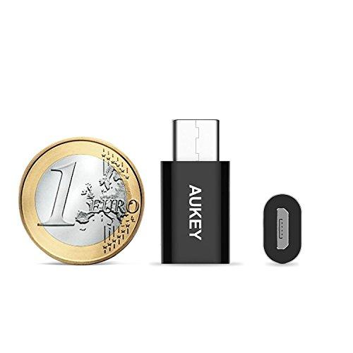 AUKEY Adattatore USB C a Micro USB Femmina [ 3 pack ] Connettore USB C per Samsung Galaxy Note 7 / Apple MacBook / Google Chromebook Pixel / OnePlus 2 / One Plus 3 e gli altri dispositivi con la porta USB C ( Nero )