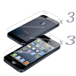 Yellowknife (Tm) (3Xfront And 3Xback) Crystal Clear Screen Protector For Apple Iphone 5 - Yellowknife Hard Sheet Envelop Protected In Delivery