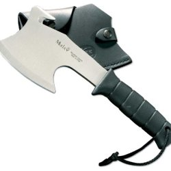 Muela-Hg-S, 11-Inch Ft Polymer Handle Tactical Hatchet (Black Leather Sheath)