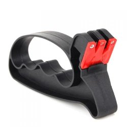 2 In 1 Knife / Scissors Sharpener With Hand Guard