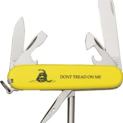 Victorinox Swiss Army 58304 Gadsden Flag Tinker Knife, Yellow
