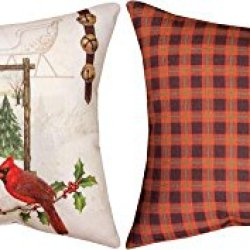 """Jingle All The Way Knife Edge Indoor/Outdoor Pillow 18"""" X 13"""" From Manual Woodworkers"""