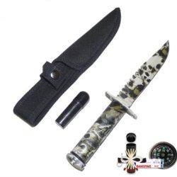 New Skull Camo Survival Knife Chk1272Skc