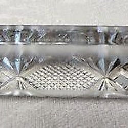 Stunning Vintage Brilliant Cut Crystal Art Glass Knife Rest Holder Table Setting