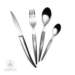 Laguiole High-End 24 Piece Heritage Laguiole Boxed Set, Forged Stainless Steel, Mirror Polish Finishing Single Block Knifepresented In A Beautiful Presentation Box.