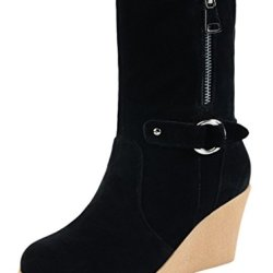 Guciheaven Women Fashiom Wedge Heel Boots(8 B(M)Us, Black)