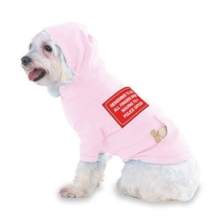 Remember To Use All Fingers When Waving To A Police Officer Hooded (Hoody) T-Shirt With Pocket For Your Dog Or Cat Medium Lt Pink