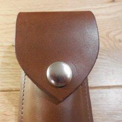 "Handmade Leather Knife Sheath. 5"" Brown"