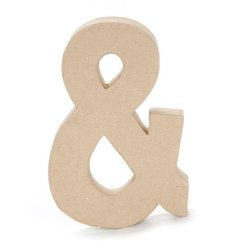 Bulk Buy: Darice Diy Crafts Paper Mache Symbol Ampersand 8 Inches (3-Pack) 2862-And