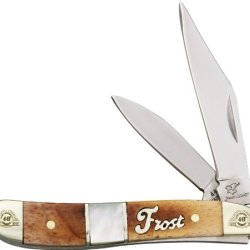 Frost Cutlery & Knives 40107Cmc 40Th Anniversary Series - Peanut Pocket Knife With Brown Smooth Bone Handles