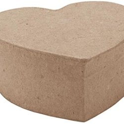 Dcc 3.25 By 3.25 By 1.5-Inch Paper-Mache Heart Box, Mini