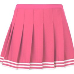 """Teamwork Women'S Pink Poise Pleated Cheer Skirts 26-28""""W Pink/White/Pink"""