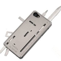 Pin Yuan Latest And Most Fashionable Of The Most Unique Limited Edition Aluminum Multifunctional Swiss Army Knife Phone Protective Shell For Iphone 5 5S (Silver)