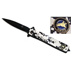 "New New 7.5"" Folding Spring Assisted Knife Tactical Spring Assisted Knife With Belt Clip"