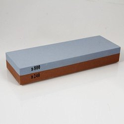 240-Mesh/800-Mesh Double-Side Aluminum Oxide Sharpening Stone Corundum Grindstone With Non-Slip Silicone Base Tmr