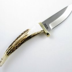Silver Stag Sharp Forest D2 Tool Steel Antler Tip Handle