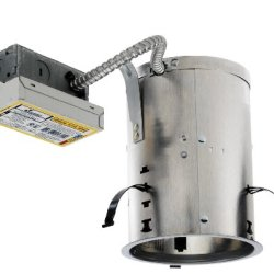 Juno Lighting Icpl626Re 6-Inch Ic Rated 26W Triple Vertical Cfl Remodel Housing, 120V Hpf Ballast