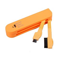 Foto4Easy Unique Swiss Army Knife 3 In1 Usb Data Sync Charger Cable 30Pin/8Pin/ Micro For Iphone 4 /4S/ 5/ 5S/ 5C/ Samsung S3/ S4/ Ipad 2/ 3/ 4/ Air (Orange)