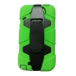 Meaci® Iphone 5C 3 In 1 Green Defender Body Armor With Tpu Clip Against Shocks Hard Case
