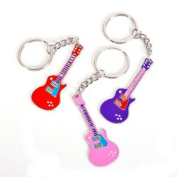 3'' Metal Guitar Keychain Case Pack 36 3'' Metal Guitar Keychain Case Pack 36