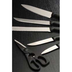 Cooknco 7 Piece Knife Block Set