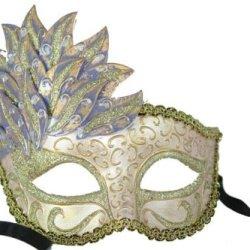 Purple Leaf Cascade Pink Venetian Mardi Gras Mask