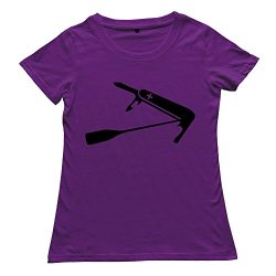 Make Your Own Cool Women'S Screw Neck T-Shirts/Swiss Paddle Knife Purple