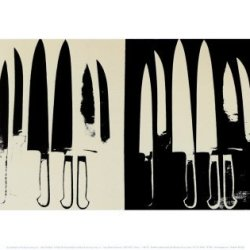 (11X14) Andy Warhol Knives 1981-82 Cream And Black Art Print Poster