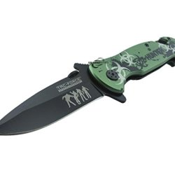 Unlimited Wares Zombie Hunter Apocolypse Assisted Opening Folding Knife 4.5-Inch Closed