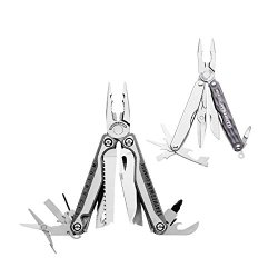 Leatherman 830682 Charge Tti Multi-Tool With Juice S2 12-In-1 Tool, Granite Gray
