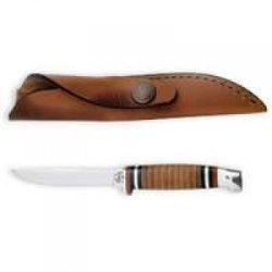 Case Pocket Knives Fixed Blade W/Leather Sheath