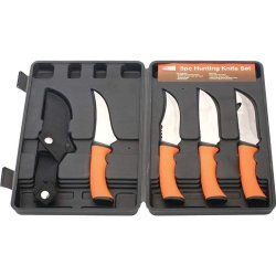 5Pc Hunting Knife Set - Skhunto