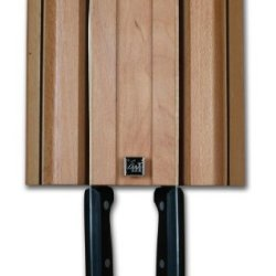 Grunwerg Wall Mounted Magnetic Knife Rack Block For 4 Knives - Wmb-04